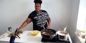 Shemeika cooking jamaican callaloo and hard food for healthy living platform