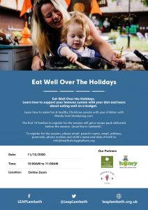 eat well over the holidays poster