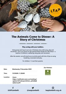 the animals come to dinner poster