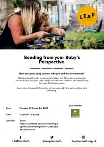 bonding from your baby's perspective poster