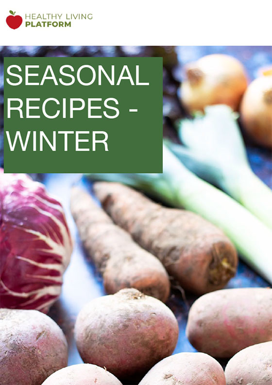 cover of HLP winter recipes ebook - winter vegetables